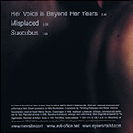 Her Voice Is Beyond Her Years CD Back Cover