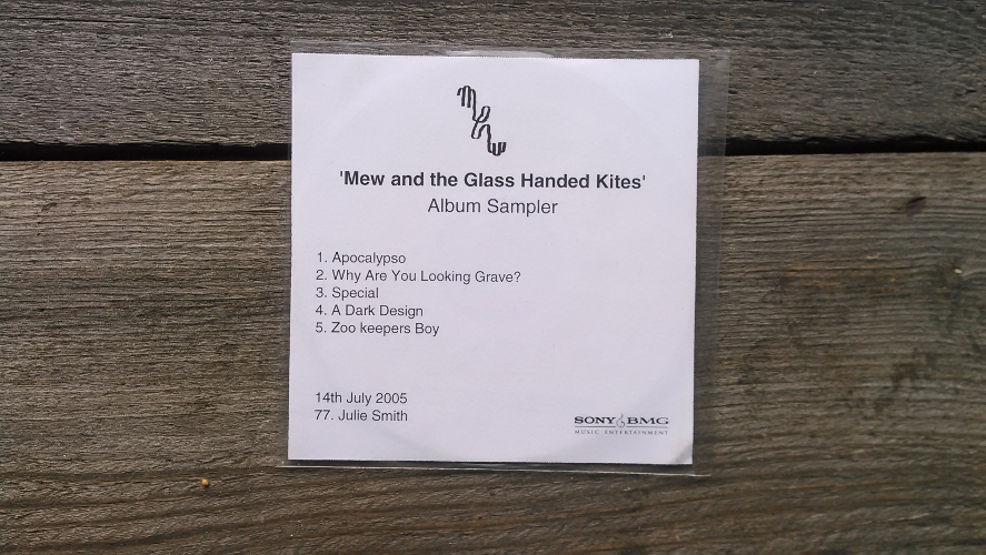 Mew – and the Glass Handed Kites (Album Sampler) Records packaged in clear pvc wallet with trackli