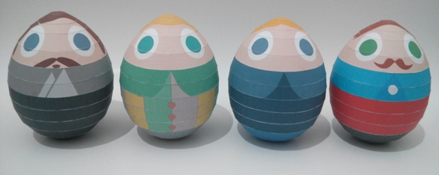 "Have just done paper craft version of ""Egg Portrait"".. eggs portrait"