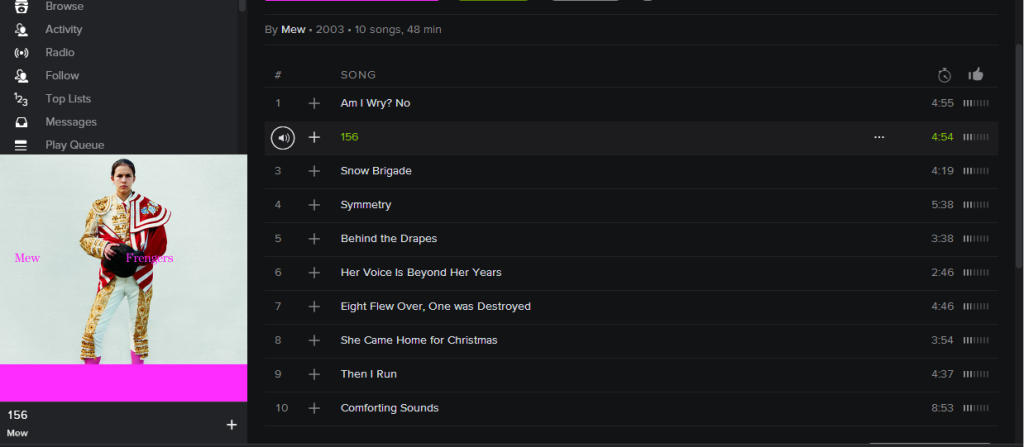 Has something gone wrong on Spotify or has Mew renamed She Spider to Then I Run? she spider